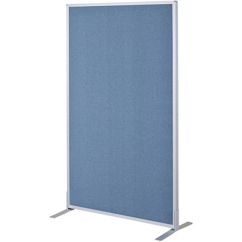 Double-Sided Blue Fabric Panel for Modular Office Divider System - 6' H x 4' W