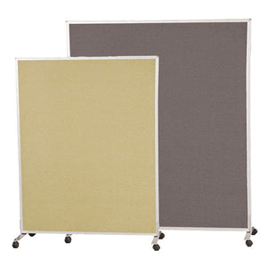 Freestanding Mobile Office Dividers - Double-Sided Fabric Panels - Multiple Sizes and Colors