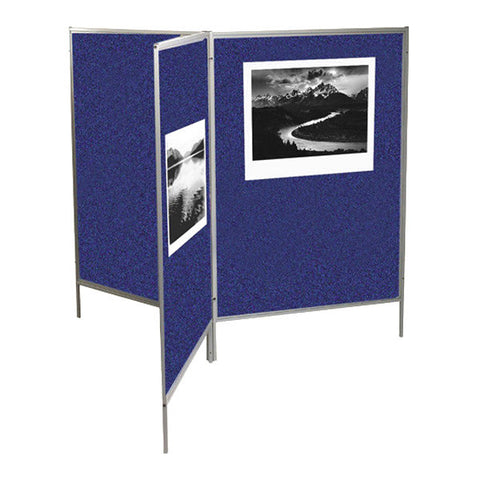 "Mobile Fabric Room Divider Panel - 78"" H x 50"" W - Multiple Colors"