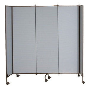 Moveable Walls / Room Divider Screens - Grey Fabric
