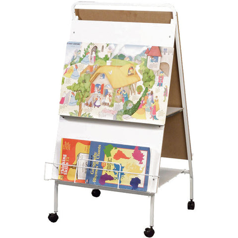 Children's Mobile Easel with Two Whiteboard Panels