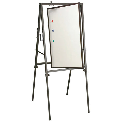 Revolving Whiteboard Easel, for Floor or Table Use