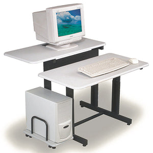 Split Level Height Adjustable Computer Desk