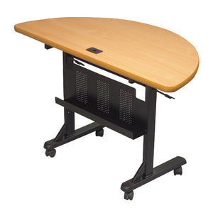 Flipper Training Table - Half Round - Teak