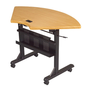 Flipper Training Table - Quarter Round - Teak