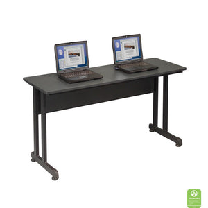 Slim Computer Training Table - Black