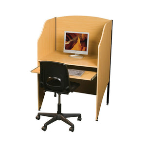 Computer Carrel with Keyboard Drawer