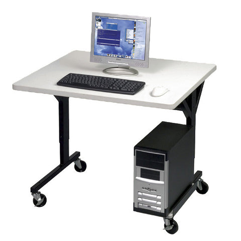 "Single User Mobile Computer Table - 36"" x 30"""