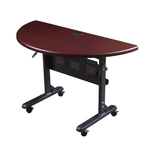 Flipper Training Table - Half Round - Mahogany