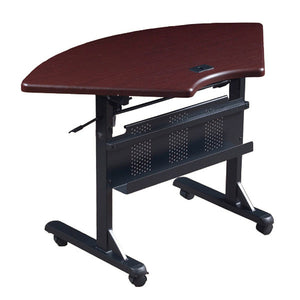 Flipper Training Table - Quarter Round - Mahogany