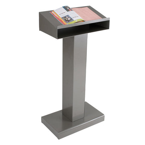 Metal Lectern with Storage Shelf