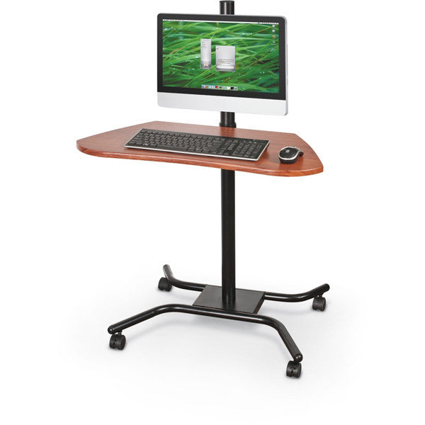 Height Adjustable Mobile Computer Desk; Height Adjustable Mobile Computer  Desk ...