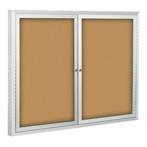 Standard Enclosed Bulletin Board With Two Hinged Doors