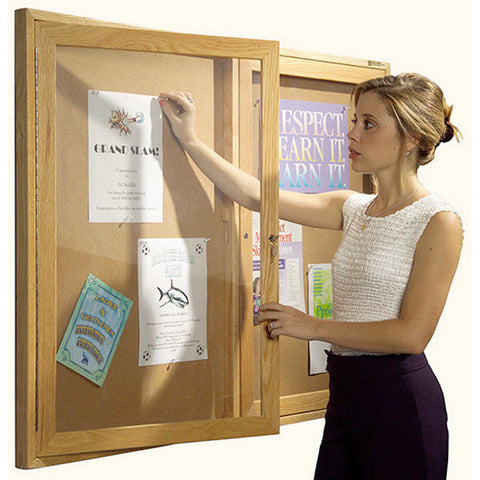 Enclosed Bulletin Board 3' H x 4' W