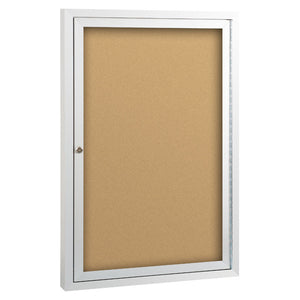 Deluxe Enclosed Bulletin Board One Hinged Door