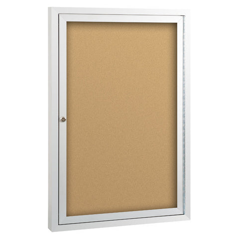 Standard Enclosed Bulletin Board One Hinged Door