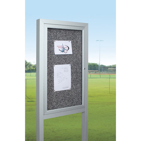 All Weather Freestanding Outdoor Bulletin Cabinet