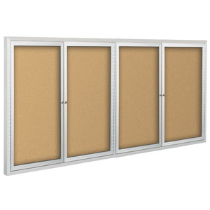 Deluxe Enclosed Bulletin Board With Four Hinged Doors