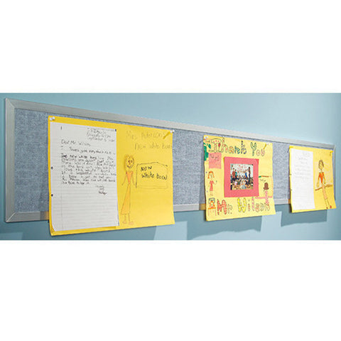 1' H x 8' to 12' W Bulletin Tackboard -  Assorted Colors