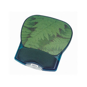 Gel Wrist Rest Mouse Pad - Green Fern