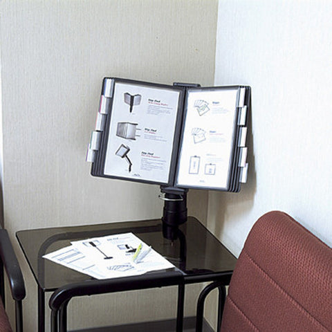 Flip and Find Reference Desk Clamp Display, Choice of 10 or 20 Pockets