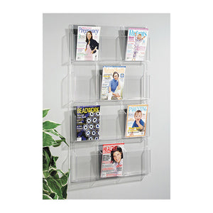 12-Magazine Vertical Clear Wall Display