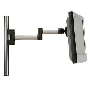 "Tetra Wall-Mounted Extrusion Pole with 2-Link LCD Arm - 17-1/2"" H"