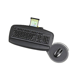 Control Zone Adjustable Keyboard Tray System with Teardrop Swivel Mouse Tray
