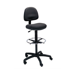 Precision Ergonomic Stool - Wheel Footrest - Black