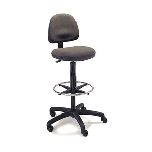 Precision Ergonomic Stool - Wheel Footrest - Dark Grey