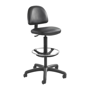 Precision Ergonomic Stool - Wheel Footrest - Black Vinyl