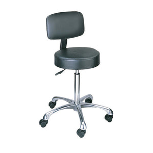 Vinyl Pneumatic Stool with Back