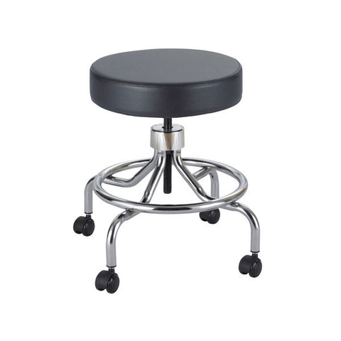 Screw Lift Adjustable Vinyl Stool - Low Base