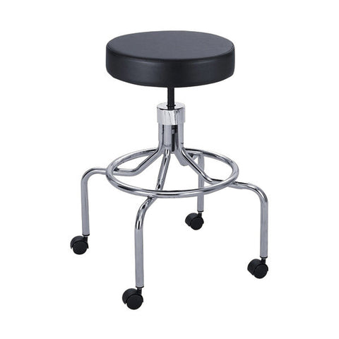 Screw Lift  Adjustable Vinyl Stool - High Base