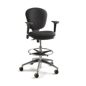 metro extended height drafting chair black office drafting chair34 office