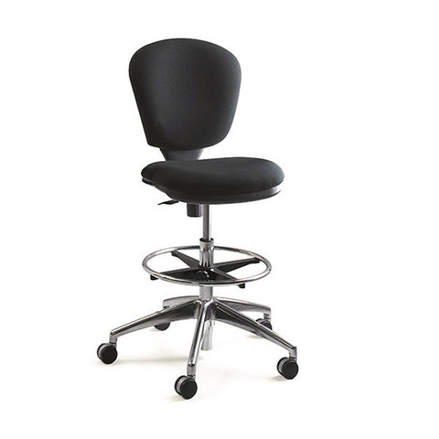 Metro Extended Height Drafting Chair - Black