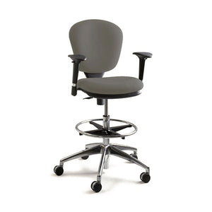 Metro Extended Height Drafting Chair - Dark Grey
