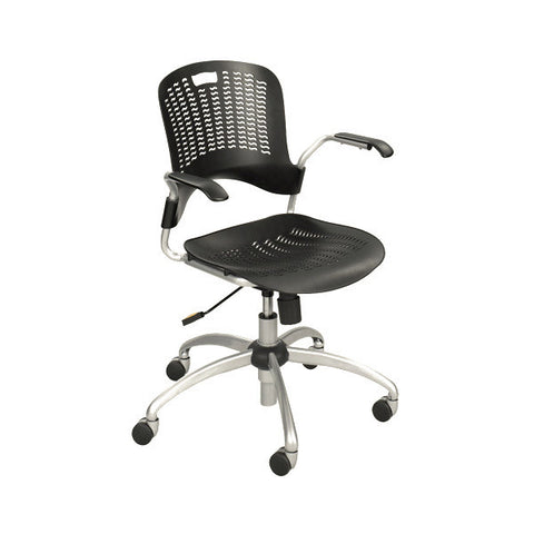 Sassy Swivel Chair with Arms - Black