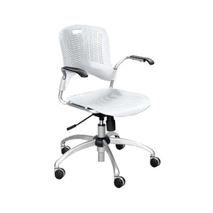 Sassy Swivel Chair with Arms - Pearl