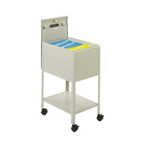 Letter-Sized Locking Tub File Cart - Putty