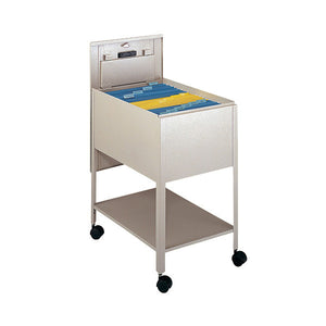 Legal-Sized Locking Tub File Cart - Putty