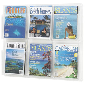 6-Magazine Horizontal Clear Wall Display