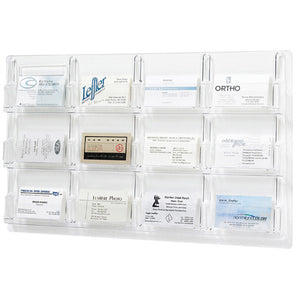 12-Business Card Wall Display