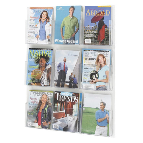 9-Magazine Clear Display - Economy Wall Mount Display