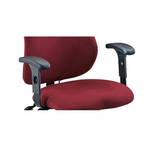 Optional Height-Adjustable T-Arms for Mayline Comfort Series 24-Hour Chairs