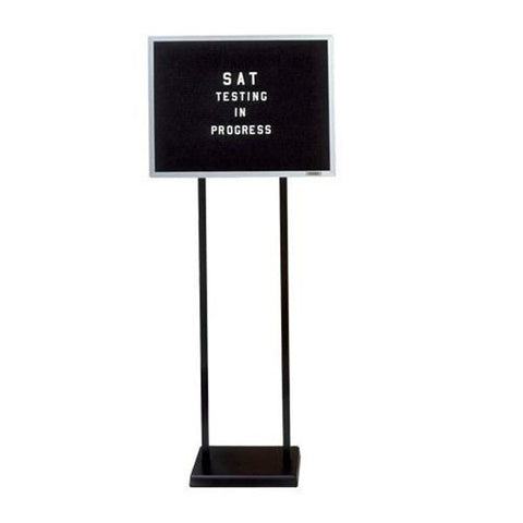 Double-Pedestal Enclosed Letter Board Lobby Sign