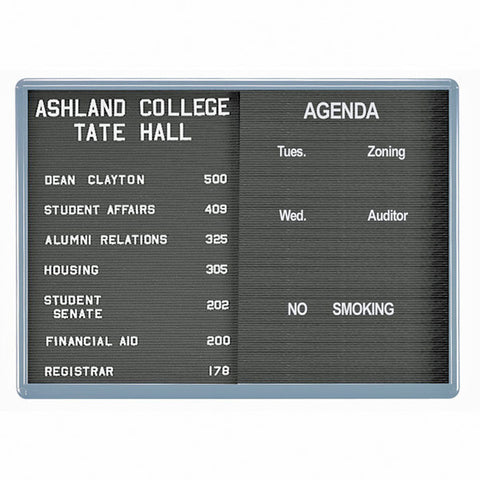 Enclosed Letter Board with Sliding Glass Doors