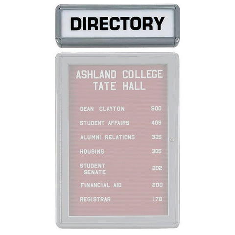 "Directory Name Header - Grey Frame - 7"" x 24"""