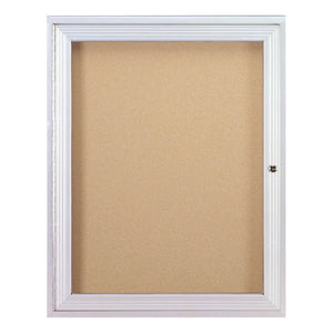 Enclosed Bulletin Board, One Door for Indoor Use