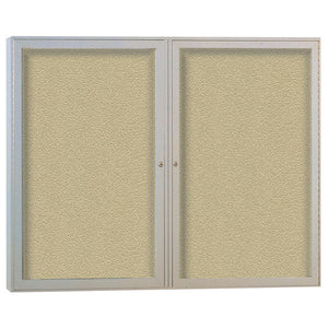 Enclosed Bulletin Boards, Two Door for Indoor or Outdoor Use